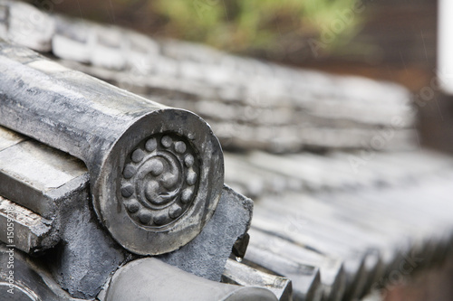 Detail on End of Roof Gable in Japan