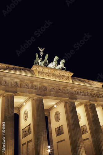 berlin brandengurg gate at night
