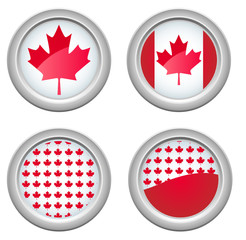 Canada Buttons for 1st of July