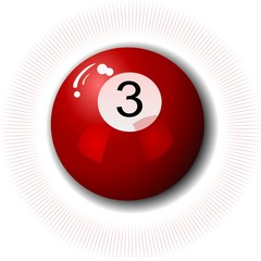 Three-Ball Snooker Pool Billard