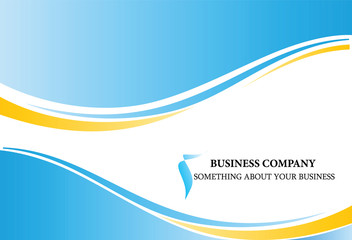 Business wave background