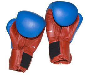 boxer's gloves isolated on white background