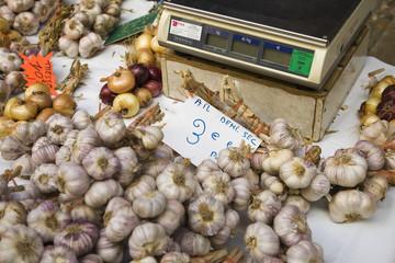 Food at market stall