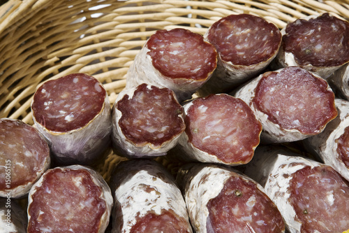 Sausage in basket