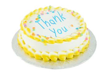 Thank you festive cake