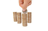 Increase your savings-Hand holding coins poster