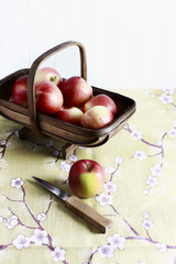 Apples on table