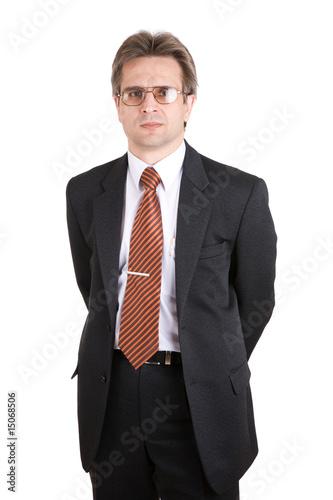 Бизнесмен с бумажным самолетиком в руках.