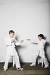 Boys practicing judo