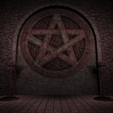 Indoor Pentagram Background