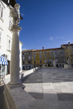 column on wall in piran slovenia