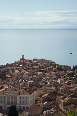 elevated view of piran slovenia