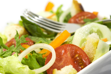 frische salat mischung nahaufnahme