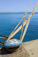 Limassol, Cyprus, Ship mooring in docks