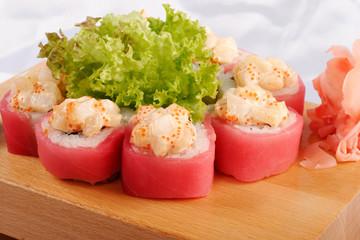 Sushi maguro hotate mayonnaise