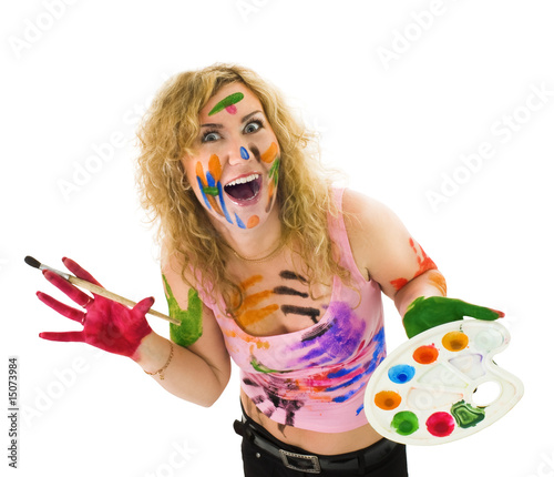 poster of Creative woman with brush and palette