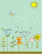 roleta: hand drawing vector garden
