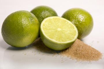 Limetten Zucker