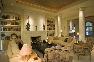 Luxury interior design, living room