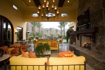 Luxury interior design, living room