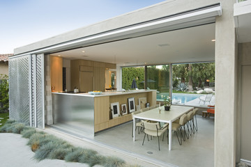 Kitchen from outdoors
