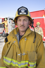 Portrait of a fire fighter