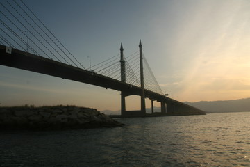 The Penang Bridge , longest bridge in south east asia