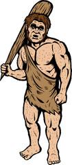 Caveman looking very confused.
