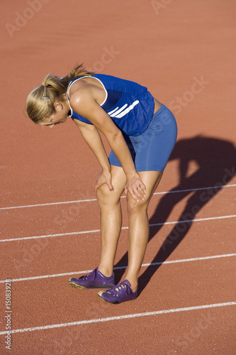 Female athlete after completed run