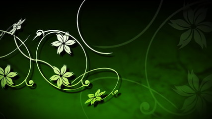 Background animation of vines growing