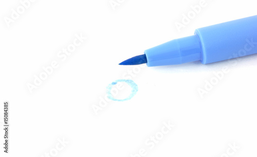 Blue artist brush