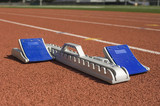 Starting block on running track