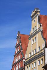 Hausgiebel in Stralsunder Altstadt