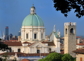 Cathedral and Skyline of Brescia, Italy