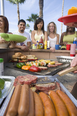Friends at Barbecue