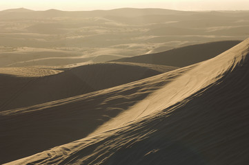 ATV Tracks on Sand Dunes