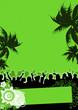 Leinwandbild Motiv grüner Partyflyer / Eventflyer / Summerparty