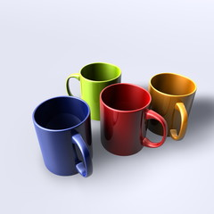 Colorful mugs