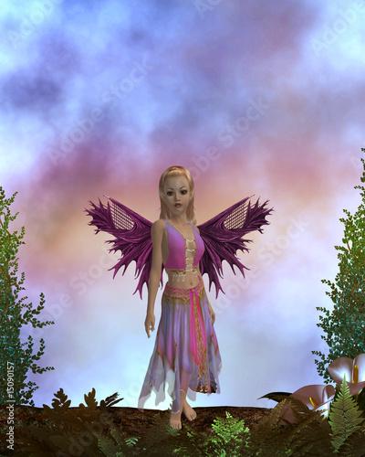 Poster Feeën en elfen Lonely Fairy