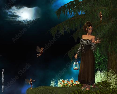 Fotobehang Feeën en elfen Lost Fairy