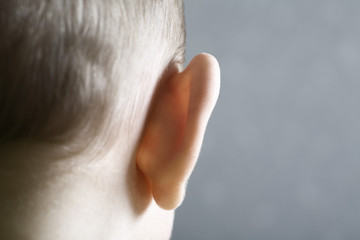 Close up view of baby's ear