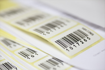 Stickers with bar code