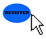 Cursor and register button poster