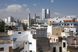 rooftop skyline view of casablanca morocco poster
