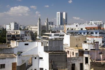 rooftop skyline view of casablanca morocco