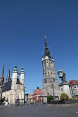 Die Stadtkirche in Halle / Saale