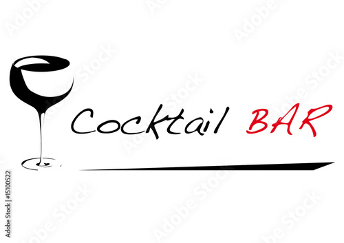 Cocktail Logo Vector Cocktail Logo Stock Image