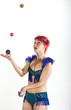 Juggling woman