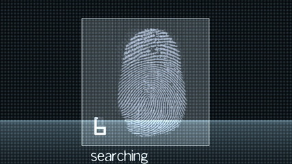 Fingerprint test - digital animation