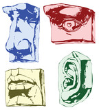 Parts of face poster